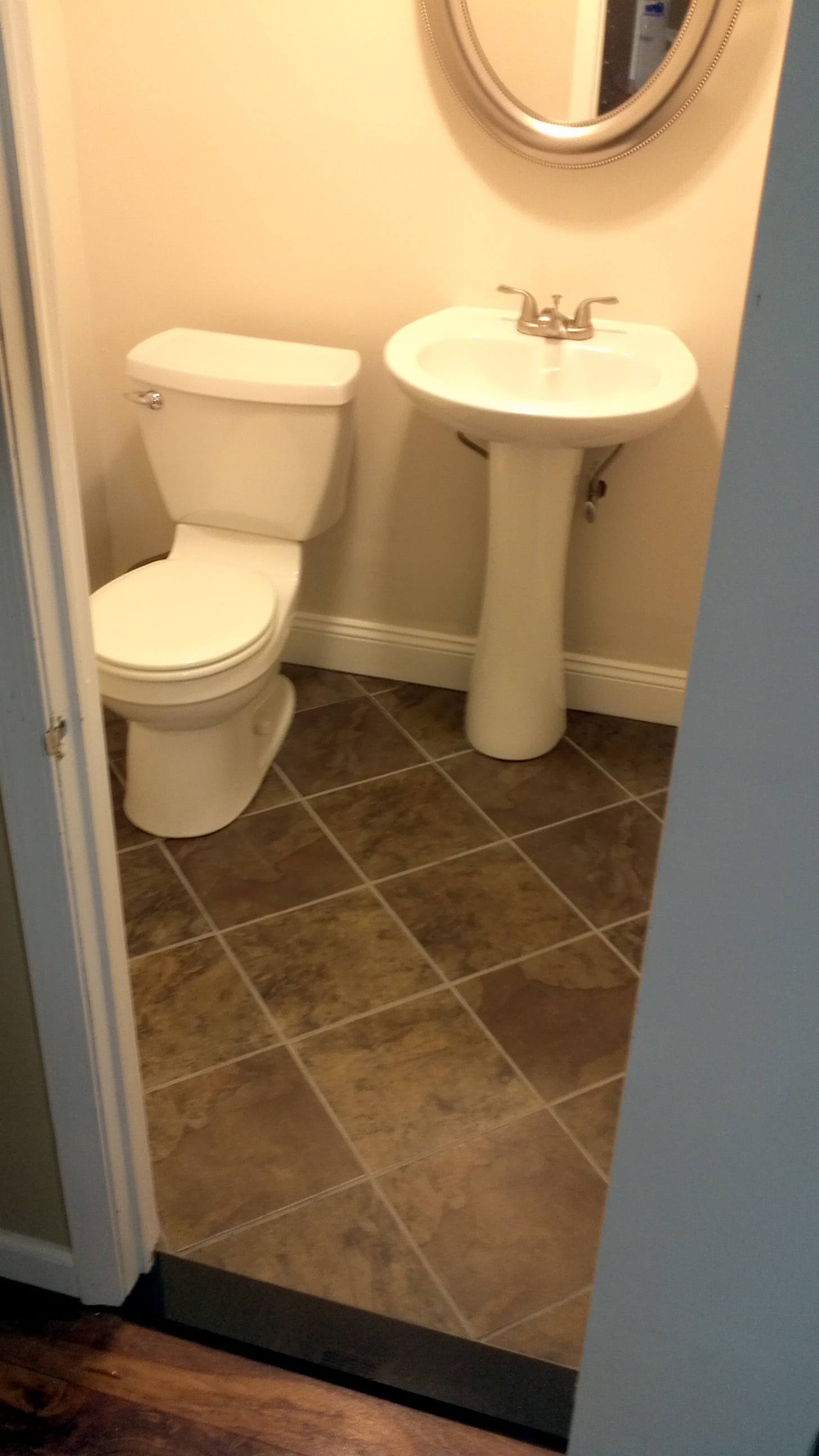 Powder Room Remodel M A S Construction