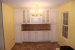Kitchen cabinets andbacksplash